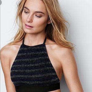 Hawt Victoria's Secret hi neck sparkle bralette